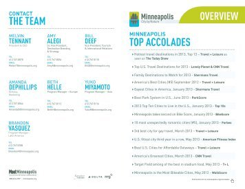 TOP ACCOLADES THE TEAM - Minneapolis