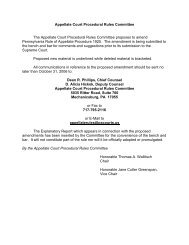 Appellate Court Procedural Rules Committee The Appellate Court ...