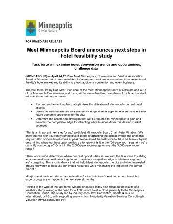 feasibility study - Minneapolis