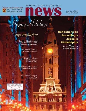 Women in the Profession Newsletter - Philadelphia Bar Association