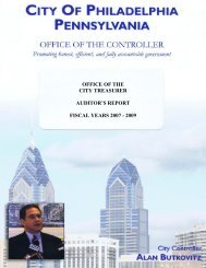 Office of the City Treasurer Auditor's Report - Office of the Controller ...