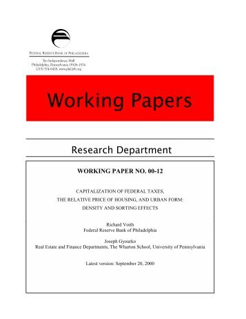 E1 Research Department - Federal Reserve Bank of Philadelphia