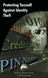 Protecting Yourself Against Identity Theft - Federal Reserve Bank of ...