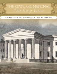 The State and National Banking Eras - Federal Reserve Bank of ...