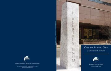 Complete 2009 Annual Report - Federal Reserve Bank of Philadelphia