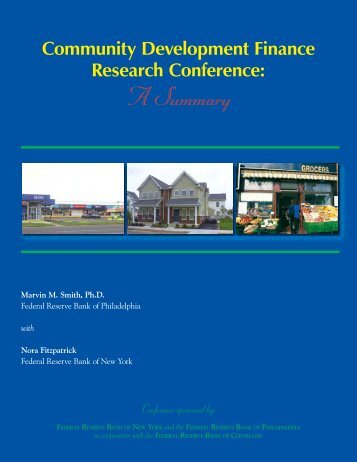 Community Development Finance Research Conference: A Summary