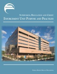 enforCement unit purpoSe and praCtiCeS - Federal Reserve Bank ...