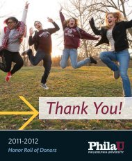 Honor Roll of Donors - Philadelphia University