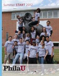 2012 Summer START Program Booklet - Philadelphia University