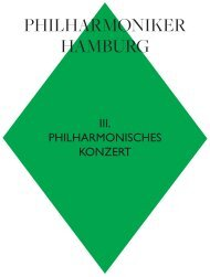 III. Philharmonisches Konzert - Philharmoniker Hamburg