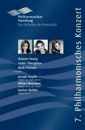 VII. Philharmonisches Konzert - Philharmoniker Hamburg
