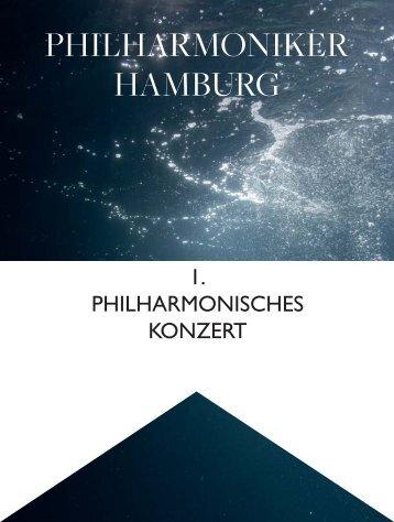 I. Philharmonisches Konzert - Philharmoniker Hamburg