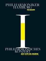Philharmonischen Konzerte - Philharmoniker Hamburg