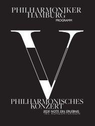 V. Philharmonisches Konzert - Philharmoniker Hamburg