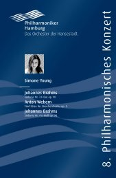 VIII. Philharmonisches Konzert - Philharmoniker Hamburg