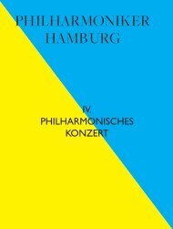 IV. Philharmonisches Konzert - Philharmoniker Hamburg