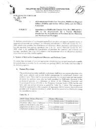 Amendment to PhilHealth Circular Nos. 30 s.2009 and 15 s.2001 on ...