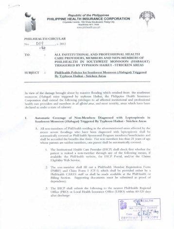 HABAGAT - Philippine Health Insurance Corporation