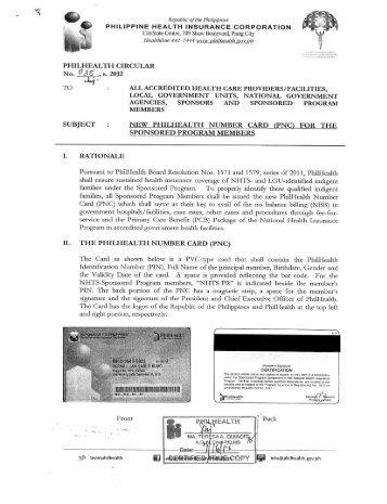 New PhilHealth Number Card - Philippine Health Insurance ...