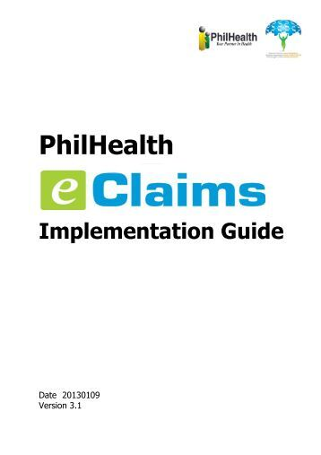 e-Claims Implementation Guide - Philippine Health Insurance ...