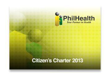 PhilHealth Citizen' Charter 2013 - Philippine Health Insurance ...