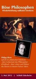 Böse Philosophen Wiederbelebung radikalen Denkens - Philipp Blom