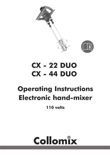 Operating Instructions Biaxialmixer BIAX 22/33/44 ROTA