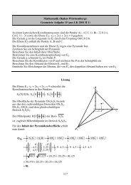 Geometrie Aufgabe 15 (aus LK 2001 II 1) - Philipp-Reis-Schule