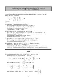 Geometrie Aufgabe 9 (aus GK 1999 B 1) - Philipp-Reis-Schule