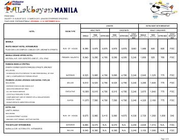 01 August 2012 - 31 March 2013 - Philippine Airlines
