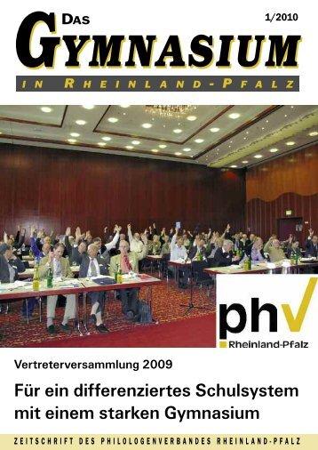 Das Gymnasium in Rheinland-Pfalz 1-2008 - Philologenverband ...