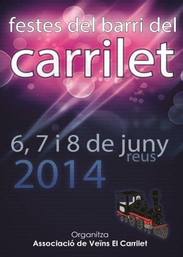 PROGRAMA DE FESTES DEL CARRILET 2014