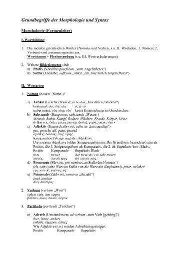 Grundbegriffe der Morphologie und Syntax (PDF-Datei) - Philologie