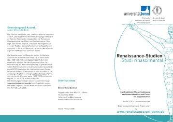 Renaissance-Studien Studi rinascimentali - Philologie - Universität ...
