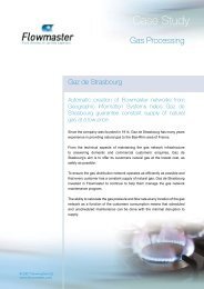 Flowmaster helps Gaz de Strasbourg guarantee constant supply of ...