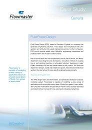 Fluid Power Design - Flowmaster - PhilonNet Engineering Solutions