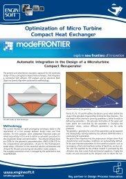 Optimization of Micro Turbine Compact Heat ... - TechNet Alliance
