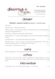 N°4 – Avril 2011 - Service de Philosophie Morale et Politique ...