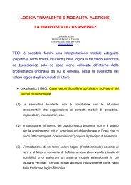 logica trivalente e modalita' aletiche - Dipartimento di Filosofia ...