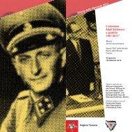 Il processo Adolf Eichmann a giudizio 1961-2011* - Dipartimento di ...