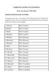 1.Arborio Prof. Cantini 2.Badiali Prof. Cantini 3. Baldi Prof. Cantini 4 ...