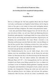Liebe und Erotik im Wandel der Zeiten - Philosophia online