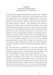 Wie verletzbar ist die Menschenwürde? - Würzburger Philosophicum