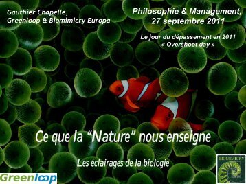 Ce que la Nature nous enseigne - Philosophie Management