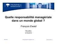 Ewald - Responsabilite slides - 2010 10 09 - Philosophie Management