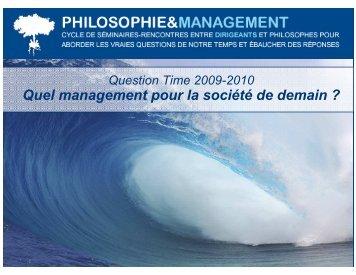 accéder à ce document. - Philosophie Management