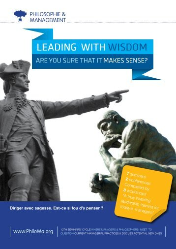 Leading with wisdom - Philosophie Management