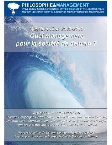 Quel management pour la societe de demain - Philosophie ...