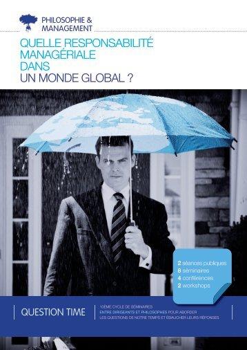 quelle responsabilité managériale dans un monde global