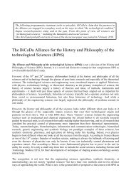 The BiCoDa Alliance for the History and Philosophy of the ...